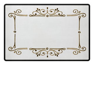 Vintage Ornaments Frame - antik gold