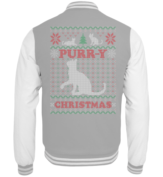 Purry Ugly Chrismtas Sweater Cat Gift