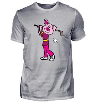 Golfer Pig