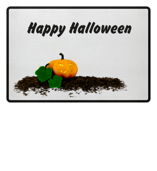 happy halloween pumpkin doormat