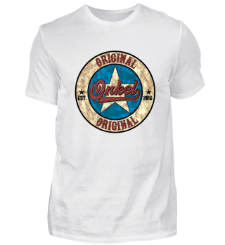Original Onkel US Style Shirt established 2018 werdender Bruder Geburt Baby Kind Schwanger Schwangerschaft Geschenk