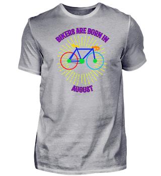 August Fahrrad Shirt Geschenk