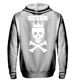 Queen Totenkopf Hoodie Rückseite