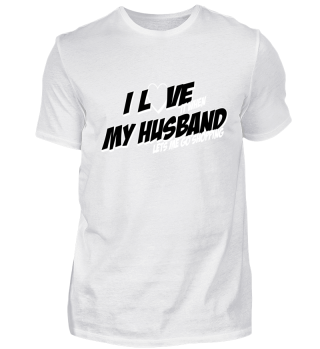 I love my husband shopping heart