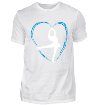 Ice blue heart and a dancing girl wh