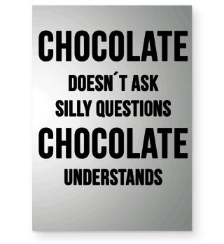 Schokolade Poster Spruch Geschenk