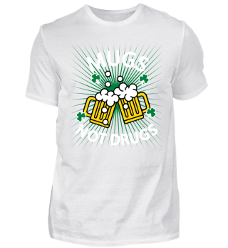 St. Patrick's Day T-Shirt Mugs Not Drugs