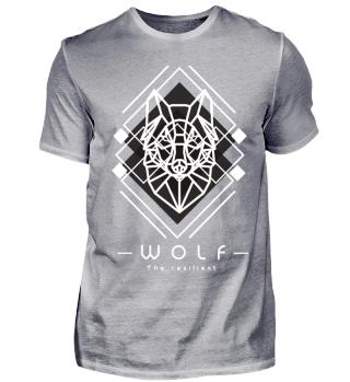 Geometrische Tiere Wolf