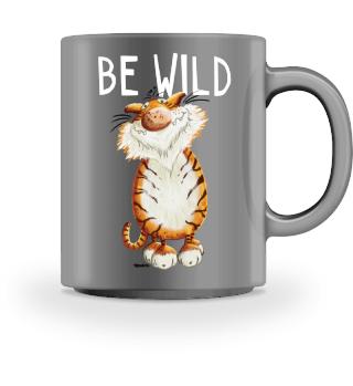BE WILD Tiger - Katze - Comic - Tiere