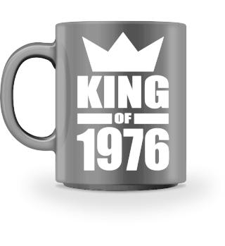 King of 1976 Geburtstag Geschenk - Krone