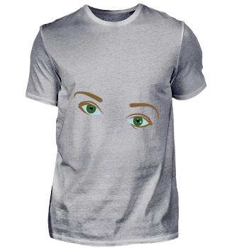 Augen mit Augenbrauen