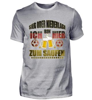 Fußball & saufen, Bier Shirt für Zocker