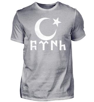 Ay-Yildiz Türk Göktürkce Grunge