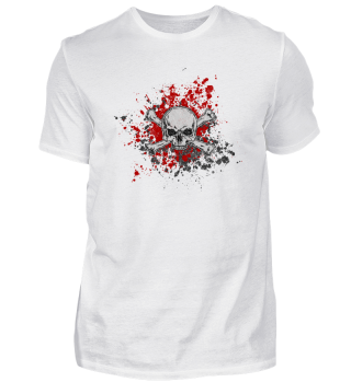 blood stain skull