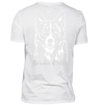 BORDER COLLIE Portrait dog Backprint