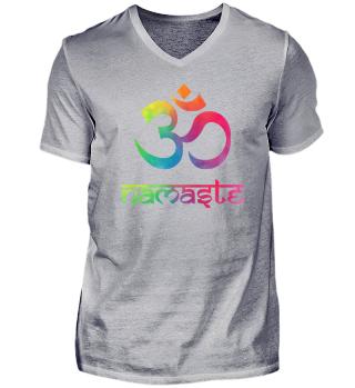 Namaste & Om - Wunderschönes buntes Yoga Design