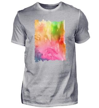 Une tache de couleur colorée dans un loo