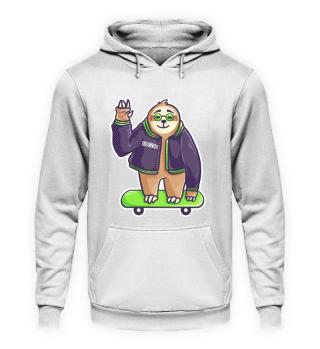 Sloth cool skateboard halfpipe chill Gif