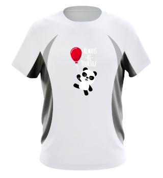 Always be yourself Panda Red Balloon