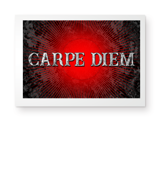 CARPE DIEM - Halftone Star red Poster