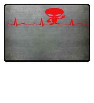 GIFT- ECG HEARTLINE ALIEN RED