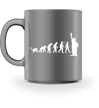 Evolution Of Humans - Lady Liberty II