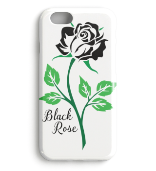 Beautiful Black Rose Case
