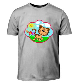 little cute cat roaming around - gift