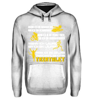 Triathlet - Schwimmer, Radfahrer, Läufer