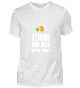 Tennis And Beer gift for Tennis Player