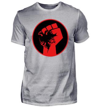 Albanien Flagge mit Faustmotiv!