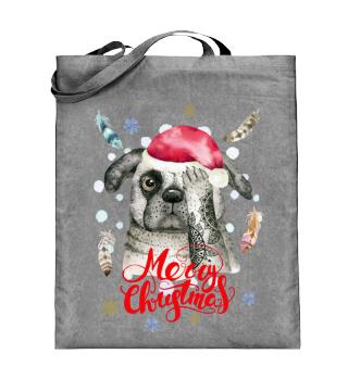 ☛ Merry Christmas · Boho Dog · Hund #9A