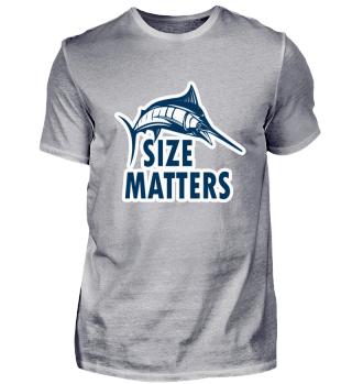 Funny Fishing Tshirt - Size Matters