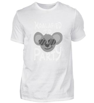 Funny Party Shirt Koalafied To Party