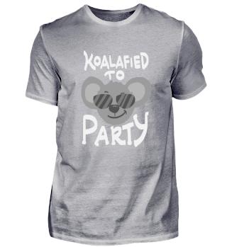 Funny Party Shirt Koalafied To Party