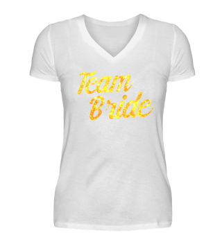 Team Bride T-Shirt Gold
