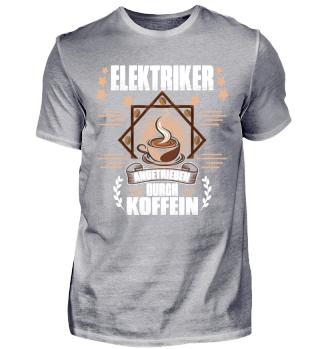 Elektriker angetrieben durch Koffein