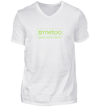 metoo - against sexual violence - green