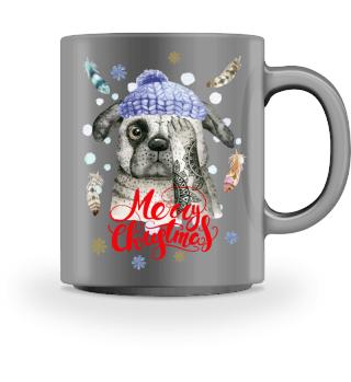 ☛ Merry Christmas · Boho Dog #10A