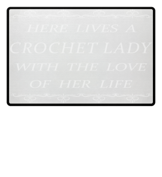 Crochet Lady Doormat