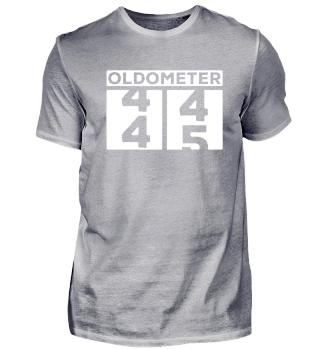 Oldometer 45. Geburtstag Birthday Shirt