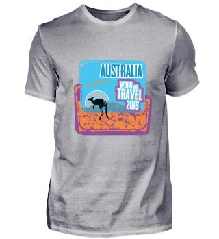 Australien - work and travel kangaroo