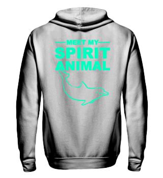 Meet Spirit Animal - dolphin - mint grün