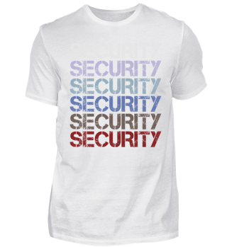 Retro Repeat Wordmark - SECURITY