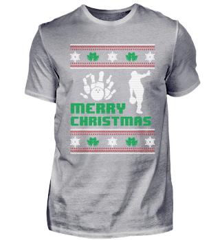 Funny Bowling Shirt Merry Christmas