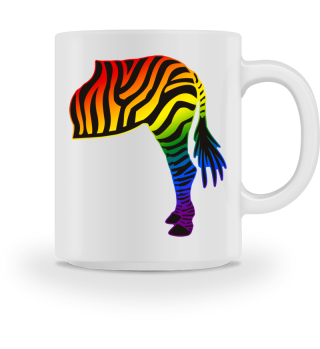 ARBEZ Zebra from behind - rainbow 1