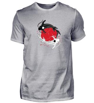 Ying Yang Koi Japan Shirt Geschenk