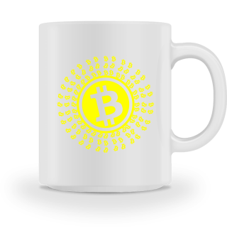 GIFT- BITCOIN CIRCLE YELLOW