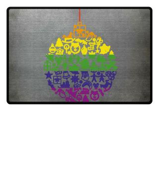 Icons Christmas Tree Ball - LGBT rainbow