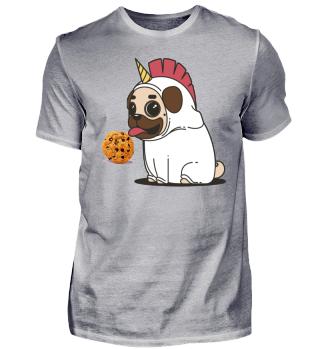 Einhornhund mit Keks Geschenk